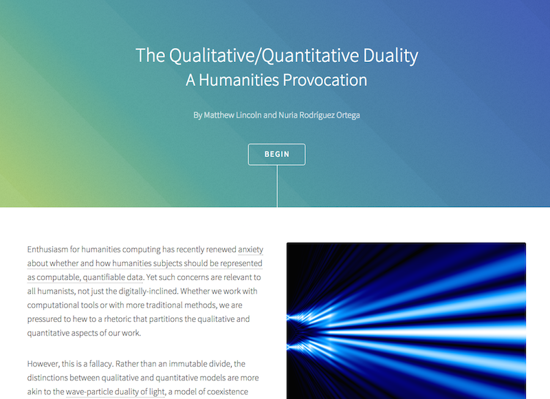 Homepage for The Qualitative/Quantitative Duality: A Humanities Provocation