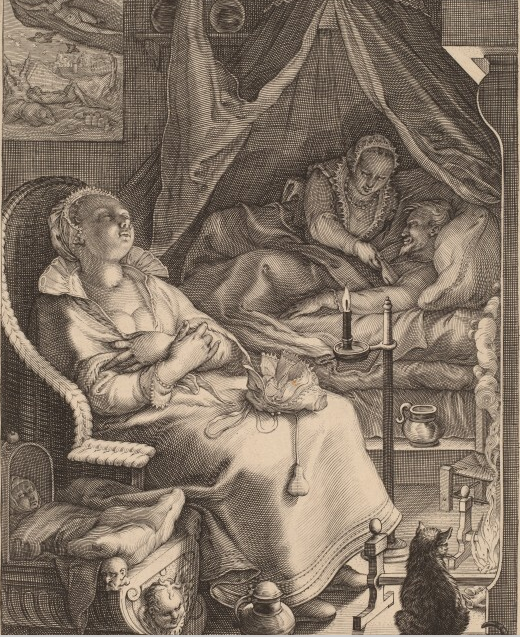 Jan Saenredam after Hendrick Goltzius, _Night-, 1595-1598. [National Gallery of Art, Gift of Ruth Cole Kainen](http://www.nga.gov/content/ngaweb/Collection/art-object-page.154310.html).