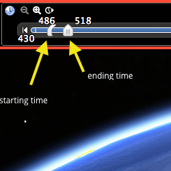 The Google Earth time slider