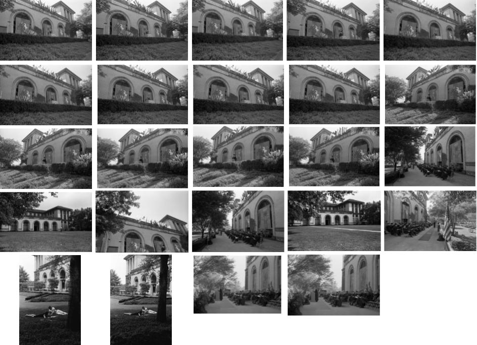 A sample of visually similar images of CMU's College of Fine Arts building.