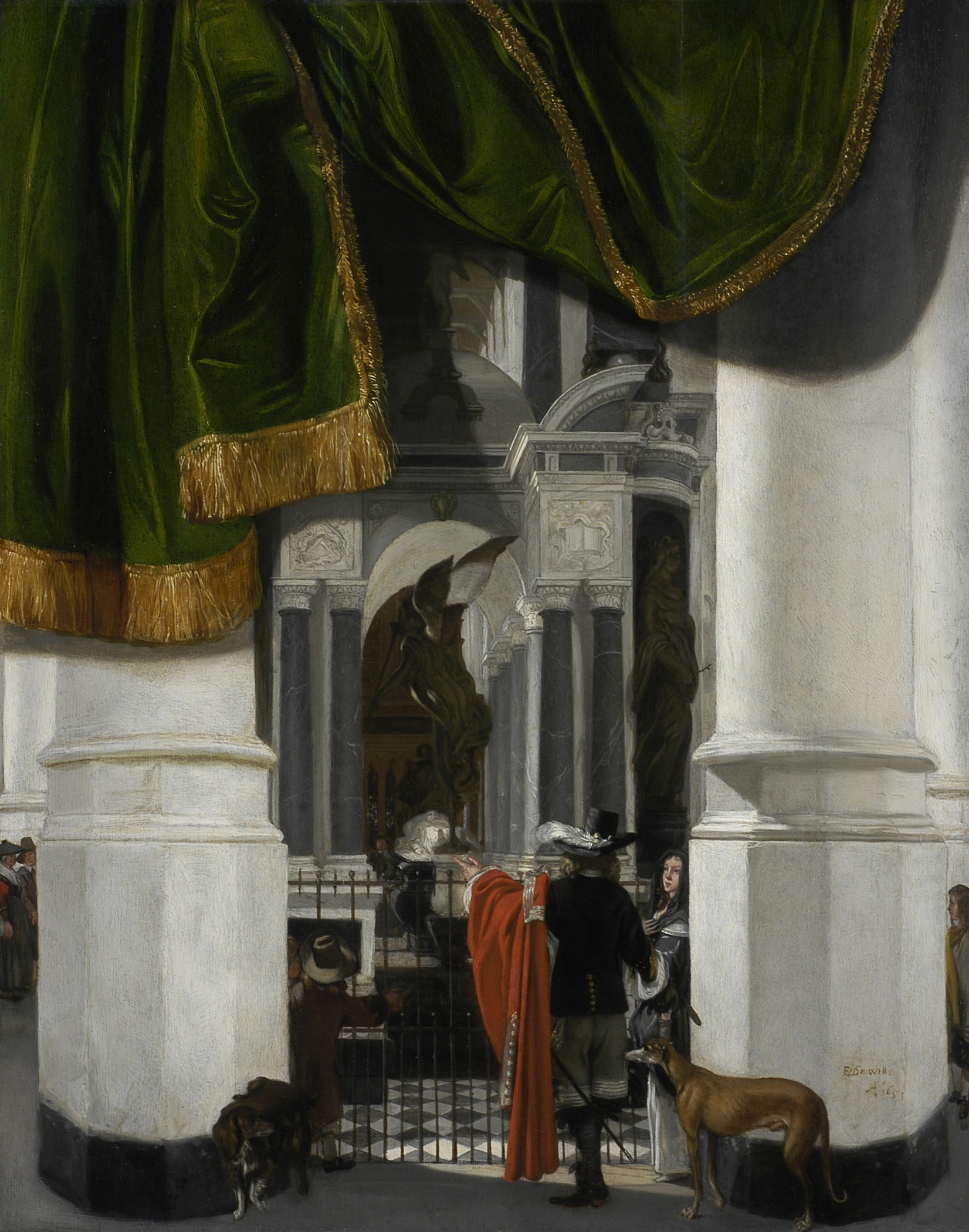 Emmanuel de Witte, Interior of the Nieuwe Kerk in Delft with the Tomb of William the Silent, 1653, Los Angeles County Museum of Art, Gift of Mr. and Mrs. Edward W. Carter [(M.2003.108.5)](http://collections.lacma.org/node/209228)
