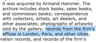 From the Getty Research Institute's description of the Knoedler Gallery Archive http://www.getty.edu/research/special_collections/notable/knoedler.html